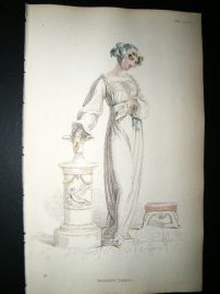 Ackermann 1812 Hand Col Regency Fashion Print. Morning Dress 7-33